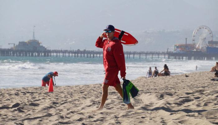 plavčík usa pláž