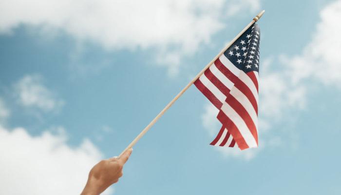 americká vlajka esta
